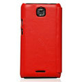 Nillkin leather Cases Holster Covers for Coolpad 9100 - Red (High transparent screen protector)