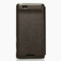 Nillkin leather Cases Holster Covers for Coolpad 9900 - Brown (High transparent screen protector)