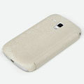 ROCK Texture Series Side Flip leather Cases Holster Skin for Samsung S7562 Galaxy S Duos - Beige