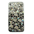 Bling Hard Covers Skulls diamond Crystal Cases Skin for iPhone 5 - Black