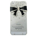 Bowknot diamond Crystal Cases Bling Hard Covers for iPhone 5 - Black