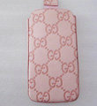 GUCCI leather Cases Holster Covers Skin for iPhone 4G/4GS - Pink