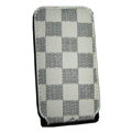 LOUIS VUITTON LV Flip leather Cases Holster Covers Skin for iPhone 3G/3GS - White