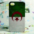 Retro Algeria flag Hard Back Cases Covers for iPhone 4G/4GS