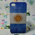 Retro Argentina flag Hard Back Cases Covers for iPhone 4G/4GS