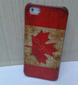 Retro Canada flag Hard Back Cases Covers Skin for iPhone 5