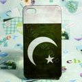 Retro Pakistan flag Hard Back Cases Covers for iPhone 4G/4GS