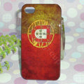 Retro Portugal flag Hard Back Cases Covers for iPhone 4G/4GS