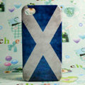 Retro Scotland flag Hard Back Cases Covers for iPhone 4G/4GS