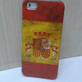 Retro Spain flag Hard Back Cases Covers Skin for iPhone 5