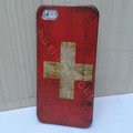Retro Swiss Confederation flag Hard Back Cases Covers Skin for iPhone 5
