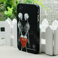 Skull Hard Back Cases Matte Covers Skin for iPhone 5 - Black
