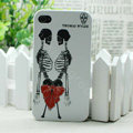 Skull Hard Back Cases Matte Covers Skin for iPhone 5 - White