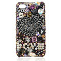 Swarovski Bling crystal Cases Love Luxury diamond covers for iPhone 5 - Black