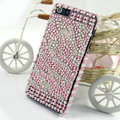 Zebra diamond Crystal Cases Bling Hard Covers for iPhone 5 - Pink