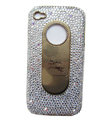 Bling Burberry Crystal Cases Diamond Covers for iPhone 4G/4S - White