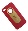 LV LOUIS VUITTON Ultrathin Matte Color Covers Hard Cases for iPhone 4G/4S - Rose
