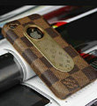 Luxury LV LOUIS VUITTON leather Cases Hard Back Covers for iPhone 4G/4S - Brown