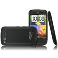 IMAK Armor Knight Color Covers Hard Cases for HTC Desire S G12 S510e - Black (High transparent screen protector)