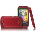IMAK Armor Knight Color Covers Hard Cases for HTC Desire S G12 S510e - Red (High transparent screen protector)