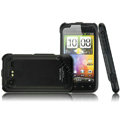 IMAK Armor Knight Color Covers Hard Cases for HTC Incredible S S710E G11 - Black
