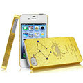 IMAK Cancer Constellation Color Covers Hard Cases for iPhone 4G\4S - Golden