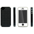 IMAK Candy Color Covers Hard Cases for iPhone 4G\4S - Black (High transparent screen protector)