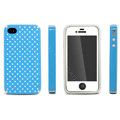 IMAK Candy Color Covers Hard Cases for iPhone 4G\4S - Blue (High transparent screen protector)