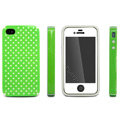 IMAK Candy Color Covers Hard Cases for iPhone 4G\4S - Green (High transparent screen protector)