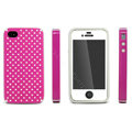 IMAK Candy Color Covers Hard Cases for iPhone 4G\4S - Magenta (High transparent screen protector)