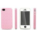 IMAK Candy Color Covers Hard Cases for iPhone 4G\4S - Pink (High transparent screen protector)