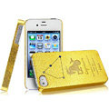 IMAK Capricorn Constellation Color Covers Hard Cases for iPhone 4G\4S - Golden