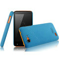 IMAK Cowboy Shell Quicksand Hard Cases Covers for Amoi N820 - Blue (High transparent screen protector)