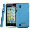 IMAK Cowboy Shell Quicksand Hard Cases Covers for Amoi N89 - Blue (High transparent screen protector)