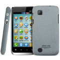 IMAK Cowboy Shell Quicksand Hard Cases Covers for Amoi N89 - Gray (High transparent screen protector)