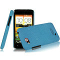 IMAK Cowboy Shell Quicksand Hard Cases Covers for HTC T328d Desire VC - Blue (High transparent screen protector)