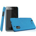IMAK Cowboy Shell Quicksand Hard Cases Covers for Hisense T96 - Blue (High transparent screen protector)