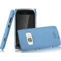 IMAK Cowboy Shell Quicksand Hard Cases Covers for Nokia 801T - Blue (High transparent screen protector)