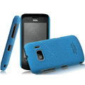 IMAK Cowboy Shell Quicksand Hard Cases Covers for TCL W939 - Blue (High transparent screen protector)