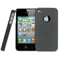 IMAK Cowboy Shell Quicksand Hard Cases Covers for iPhone 4G\4S - Black (High transparent screen protector)