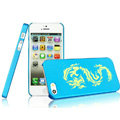 IMAK Gold and Silver Series Ultrathin Matte Color Covers Hard Cases for iPhone 5 - Blue (High transparent screen protector)