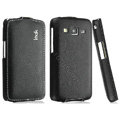 IMAK The Count leather Cases Luxury Holster Covers for Samsung B9062 - Black (High transparent screen protector)