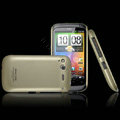 IMAK Titanium Color Covers Hard Cases for HTC Desire S G12 S510e - Gold (High transparent screen protector)
