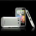 IMAK Titanium Color Covers Hard Cases for HTC Desire S G12 S510e - Silver (High transparent screen protector)