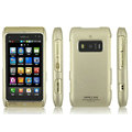 IMAK Titanium Color Covers Hard Cases for Nokia T7-00 - Gold (High transparent screen protector)