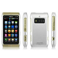 IMAK Titanium Color Covers Hard Cases for Nokia T7-00 - Silver (High transparent screen protector)