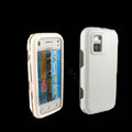 IMAK Ultra-thin Color Covers Hard Cases for Nokia N97 mini - White (High transparent screen protector)