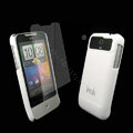 IMAK Ultrathin Color Covers Hard Cases for HTC Legend A6363 G6 - White (High transparent screen protector)