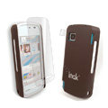 IMAK Ultrathin Color Covers Hard Cases for Nokia 5230 - Brown (High transparent screen protector)
