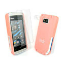 IMAK Ultrathin Color Covers Hard Cases for Nokia 5530 - Pink (High transparent screen protector)